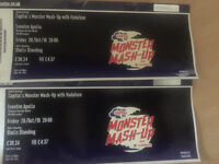 x2 floor standing tickets to Capital Fm Monster Mashup