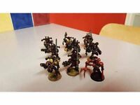 9 chaos berserkers (with chainaxes and a lord)