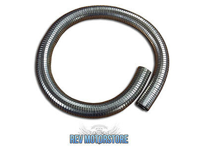"""2.5"""" 63.5mm Exhaust Repair Flexible polylock Stainless 500mm Tube Pipe 2 1/2"""""""