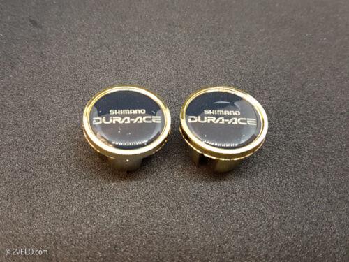 Vintage style Shimano Dura Ace gold Handlebar End Plugs