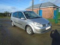 2005 renault m 1.5 dci grand scenic 7 seater 06 model t diesel silver 6 sp 106 b h pwr 79k Lins&tx
