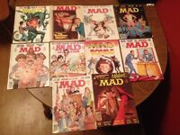 Various MAD Magazines 1970's 1980's 1990's