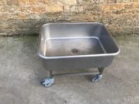 Low Profile Sink For Use With Potato Rumbler