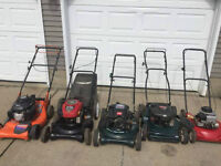 GAS Lawnmowers [4] all for $150 + $75.00 Specials--$40.00 Electr