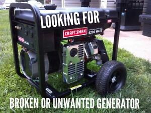 Looking for a broken or unwanted gas generator