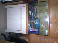 70 Gallon Fish tank and all accessories w birch cabinet