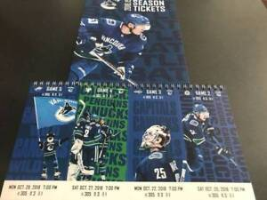 Vancouver Canucks Tickets Various Games Pair Aisle Row3 Hardcopy