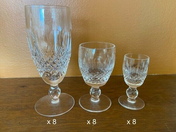 WATERFORD Crystal COLLEEN Set of 24