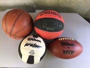 Wilson NFL leather football, Wilson protour volleyball
