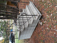 Concrete steps with railing for sale in Lac du Bonnet MB