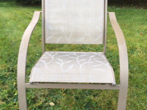 Set of six matching patio chairs