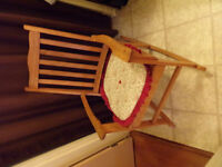 antique - mission style boston rocker - 85 plus yrs old