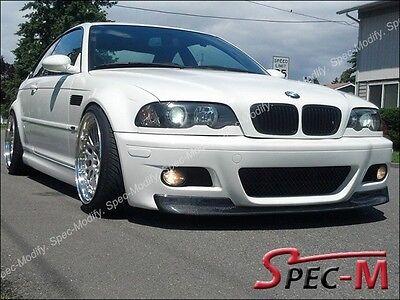 01-06 BMW E46 3-Series M3 Only 2Dr CSL Style Carbon Fiber Front Bumper Lip for sale  USA