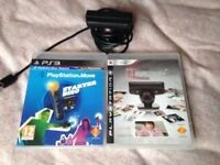 ps3 camera with 2 disc games / 10 pound NO OFFERS