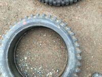 Two old never used dirt bike tires $60.00