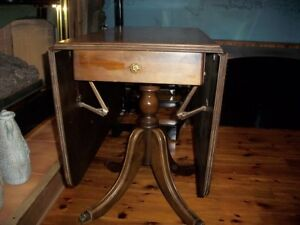 Drop Leaf Table W/Two Chairs