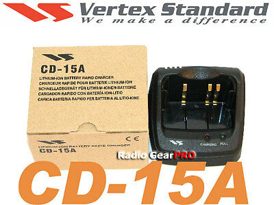 Original Vertex Yaesu CD15A charger cradle VX5R VX6R VX7R VXA710 radio