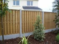 Broken fence posts replaced and fence repairs
