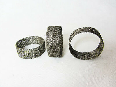 WIRE MESH EXHAUST MOTORCYCLE CAR MESH RING PIPE JOINT SEAL GASKET COLLECTOR BOX