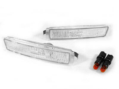 (DEPO Clear Lens Euro Bumper Side Marker Lights For 96-02 BMW Z3 M Coupe Roadster)