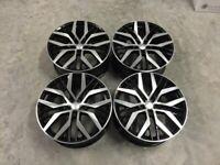 """18 19"""" Inch VW Golf Santiago Style Alloy Wheels Golf MK5 MK6 MK7 Audi A3 Seat Leon Caddy 5x112 GTI"""