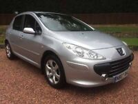 2007 Peugeot 307 1.6 HDi Diesel near 60mpg 9 Months MOT, FSH & Recent Timing Belt