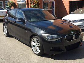 BMW 1 SERIES 118D M SPORT NAV (black) 2014