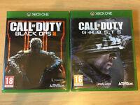 2 x Call of Duty games for XBox One