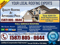 Same Day Roofing - Competitive Prices - Available NOW