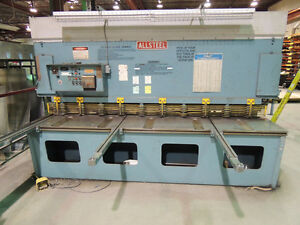 Allsteel shear 10ft X 1/4 Machine Solutions Inc MSI