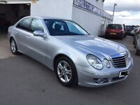 2007 MERCEDES E220 CDI DIESEL SILVER BREAKING FOR PARTS, ENGINE GEARBOX LEATHER SEATS ECU ALLOYS