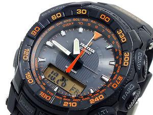 Casio Pro-Trek Solar Watch PRG-550-1A4 Compass Altitude Temperature RRP $659.00