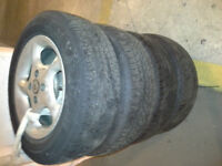 P185/65R14 All Season Tires With American Racing Rims