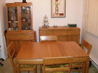 Vintage Oak Dinning Room Set