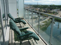 Barking IG11. Large & Modern 2 Bed Furnished Flat in New Build with Parking & Balcony