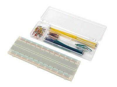Velleman Vtbb1n Solderless Breadboard - 830 Tiepoints Jumper Wires - 70 Pcs