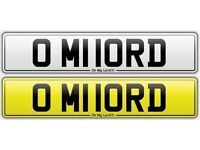 O MY LORD - PRIVATE NUMBER PLATE UNIQUE EXCLUSIVE BMW AUDI MERCEDES VW TOYOTA HONDA VAUXHALL BOSS