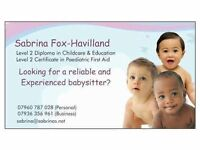 Qualified, Experienced babysitter available in the north London area