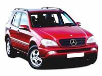 2003 MERCEDES BENZ M CLASS ML270 CDI Tip Auto DIESEL SERVICE HISTORY