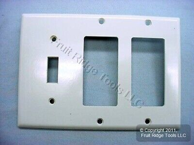 Leviton White 3-Gang Decora & Toggle Switch Cover Wallplate GFCI GFI 80431-W 3 Gang Switch Cover
