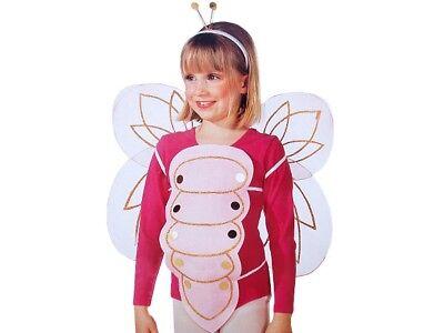 Mädchen Schmetterling-Kostüm Kinder Rosa Pink Fasching Karneval Käfer Fee