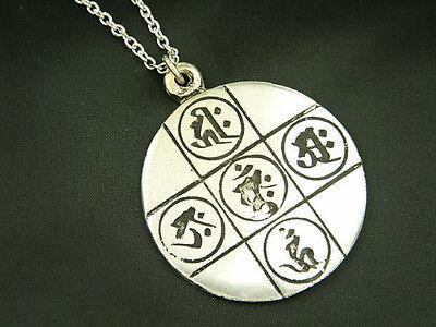 Whitemetal Buddhist Pendant Top ; KONGOKAI MANDALA (Diamond Realms)