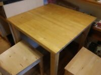 IKEA Norden Table and 2 Bertil Chairs