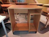 Small Beech Compact Computer Desk