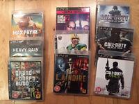PS3 games x9