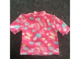 Perfect condition baby girls swim top swimming costume age 3-6 months