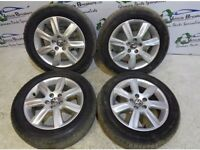 x4 Volkswagen Polo Genuine Alloy Wheels Set With Tyres