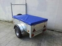 New galvanised 5x3 trailers with waterproof cover ladder rack spare jockey lock