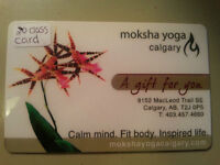 20 class pass for Moksha Yoga Calgary South