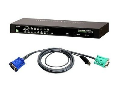 Aten CS1316KIT 16-Port USB/PS2 KVM Switch with 16 USB Cables Kit 16 Usb Kvm Cables